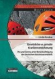 Gesetzliche vs. Private Krankenversicherung: Pro und Contra unter Berücksichtigung des deutschen Sozialstaatsmodells (Studienarbeit)