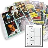 SAFE 5475 Autogrammkarten Hüllen 25er Pack | Fotohüllen 10 x 15 cm | Autogrammkartenhüllen DIN A4 für bis zu 200 Bildern | universal Lochung und weichmacherfrei